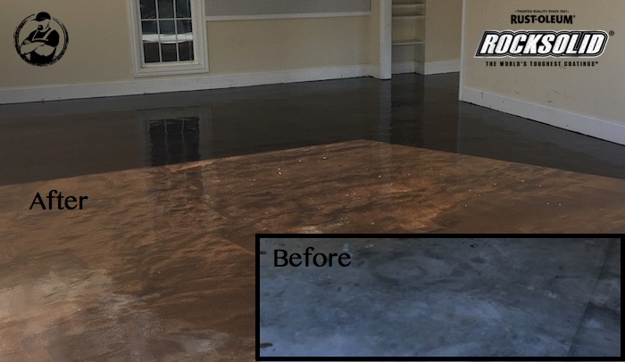 Rocksolid garage floor coating rogue engineer diy rock solid garage floor coating before after solutioingenieria Images