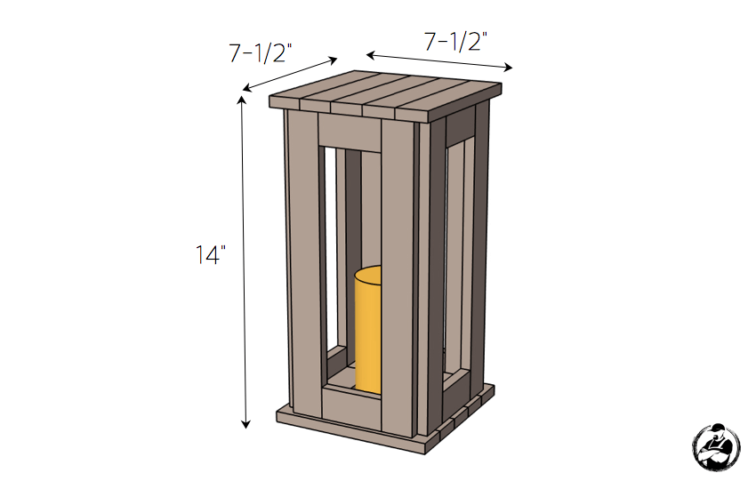 DIY Boxwood Lantern Plans - Dimensions