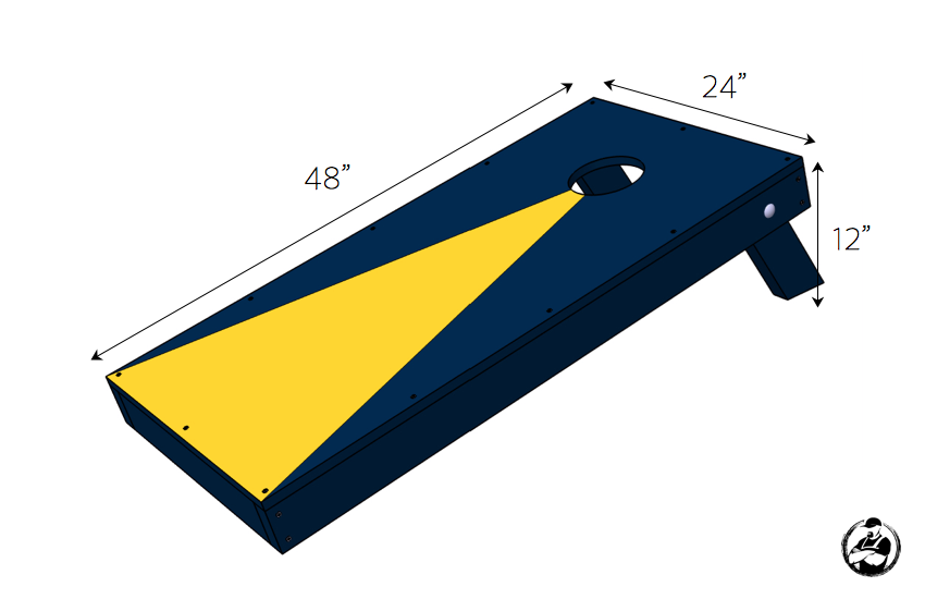 DIY Cornhole Board Plans - Dimensions