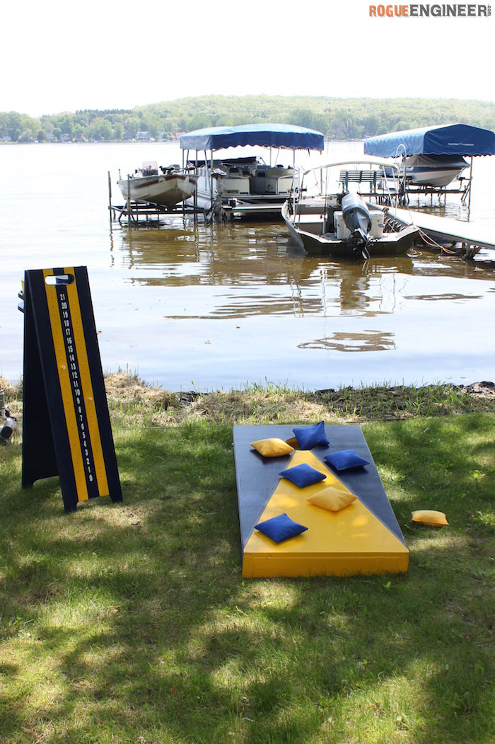 DIY Cornhole Board Plans - Rogue Engineer 4