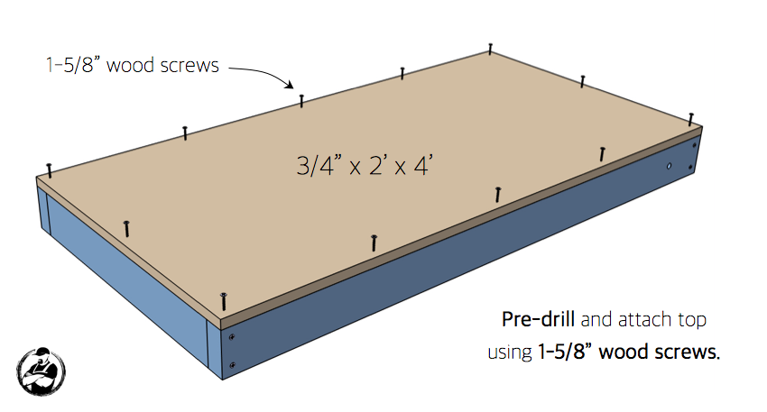 DIY Cornhole Board Plans - Step 3