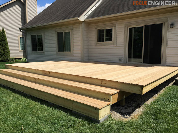 DIY Floating Deck Plans - Rogue Engineer 19