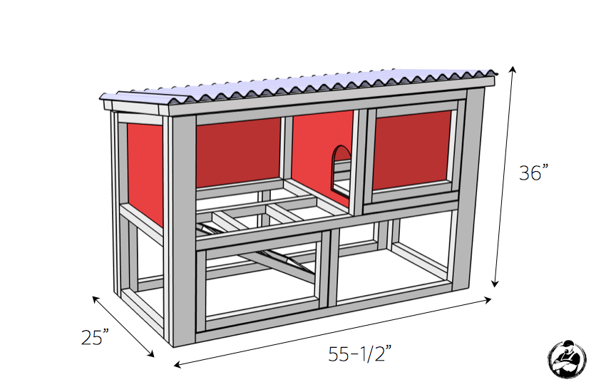 DIY Rabbit Hutch Plans Free Easy Rogue Engineer