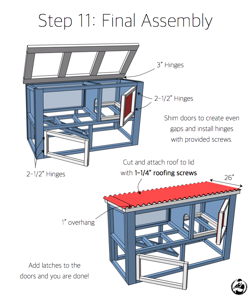 DIY Rabbit Hutch Plans - Step 11