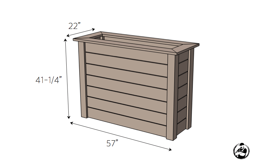 DIY Raised Planter Plans - Dimensions