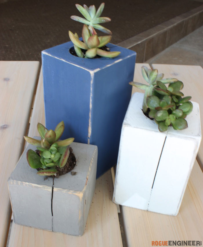 DIY Scrap Wood Succulent Planter - Rogue Engineer 2