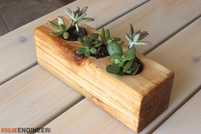 DIY Scrap Wood Succulent Planter - Rogue Engineer 3