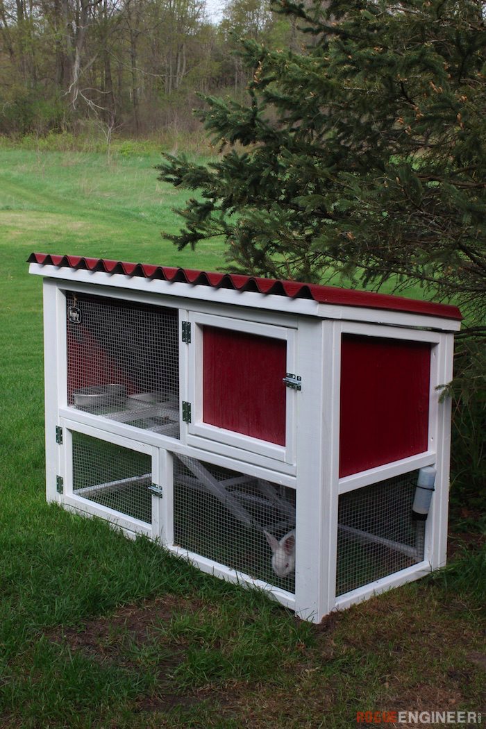 Outdoor Bunny Hutch Winter Rabbit Cages
