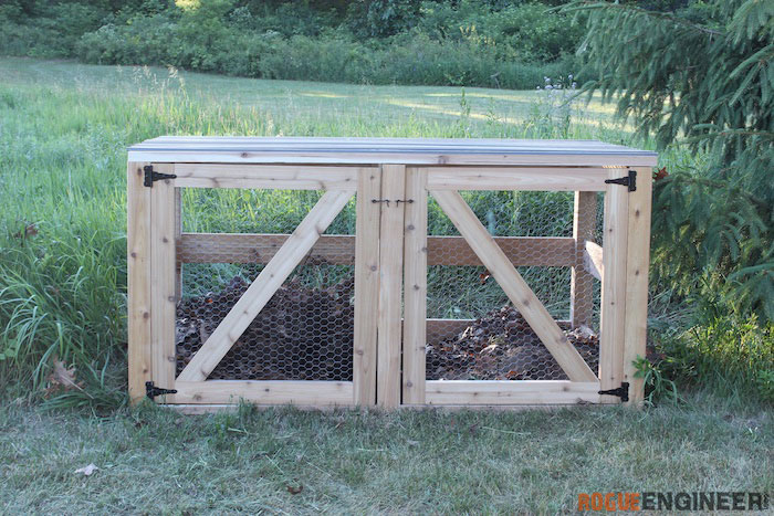 DIY Double Compost Bin Plans - Rogue Engineer 1