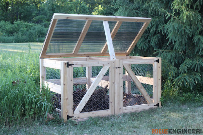 DIY Double Compost Bin Plans - Rogue Engineer 3