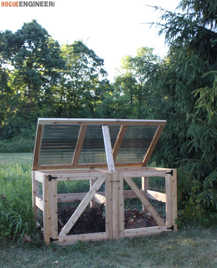 DIY Double Compost Bin Plans - Rogue Engineer 4