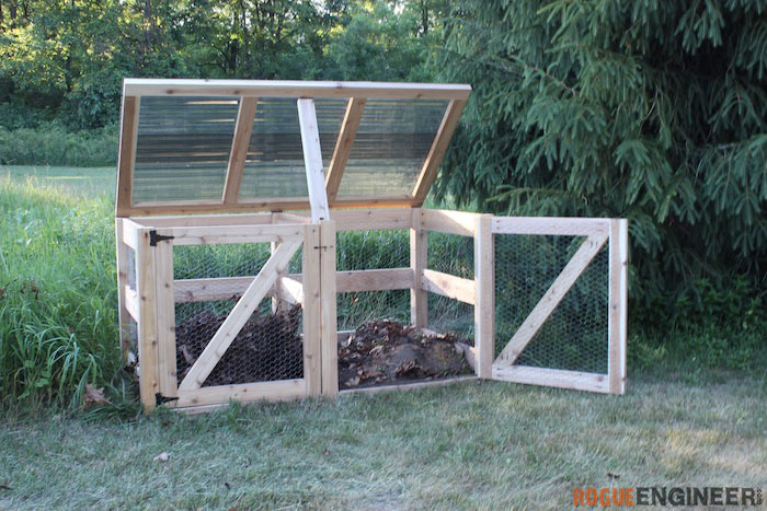DIY Double Compost Bin Plans - Rogue Engineer 5