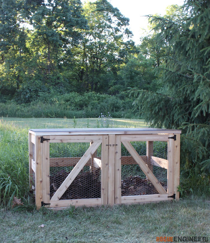 DIY Double Compost Bin Plans - Rogue Engineer 6