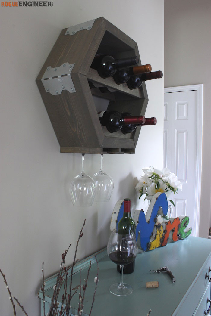 DIY Hex Wine Storage Plans - Rogue Engineer 4 (1)