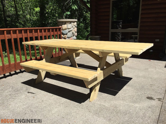 DIY Wheelchair Accessible Picnic Table - Rogue Engineer