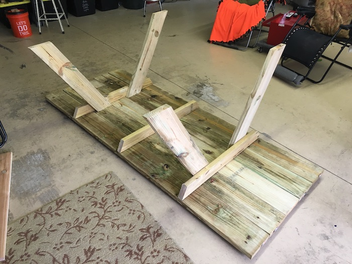 DIY Wheelchair Accessible Picnic Table - Step 2