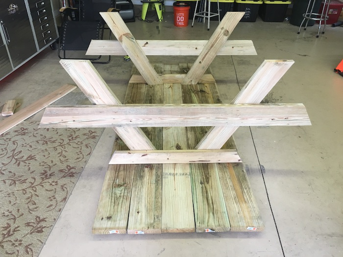 DIY Wheelchair Accessible Picnic Table - Step 3