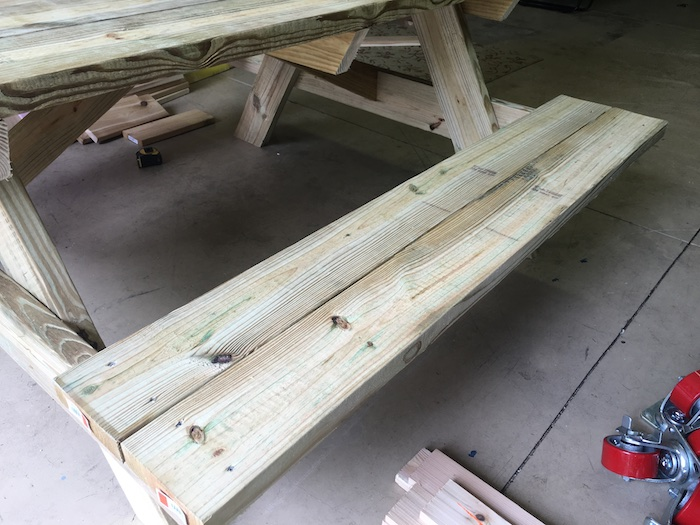 DIY Wheelchair Accessible Picnic Table - Step 4