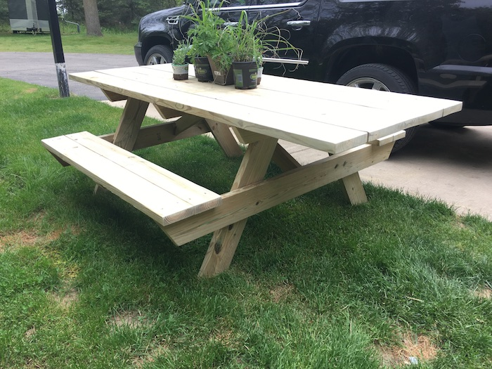 DIY Wheelchair Accessible Picnic Table - Step 6