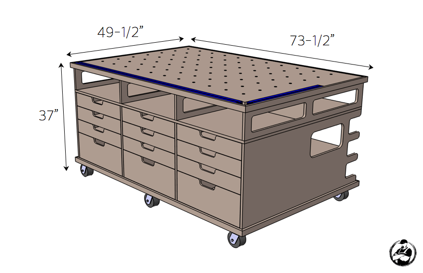 Ultimate DIY Workstation Plans - Dimensions