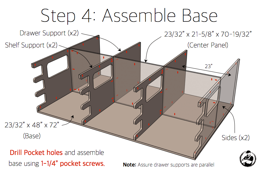 Ultimate DIY Workstation Plans - Step 4