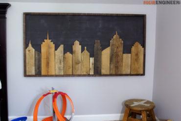 DIY Cityscape Wall Art - Rogue Engineer 2