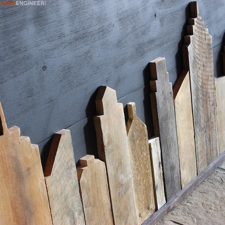 DIY Cityscape Wall Art - Rogue Engineer3