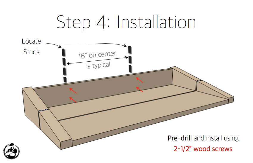 DIY Floating Shelf:Bar Plans - Step 4