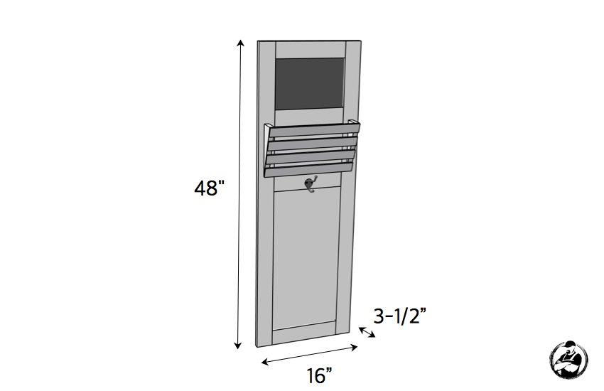 DIY Wall Locker Plans - Dimensions