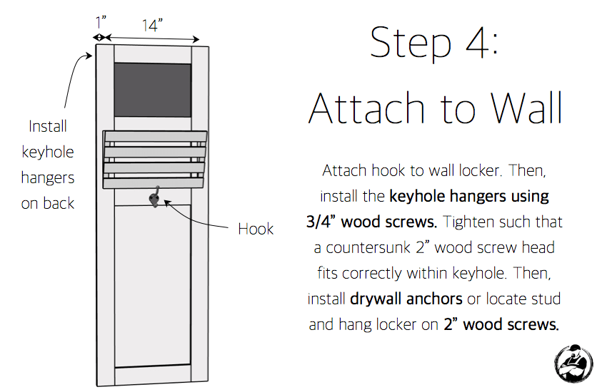 DIY Wall Locker Plans - Step 4