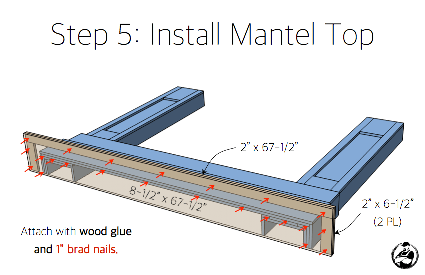 DIY Faux Fireplace Mantel Surround Plans - Step 5