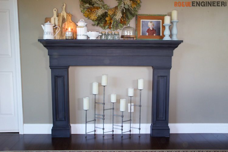 Faux Fireplace Mantel Surround » Rogue Engineer