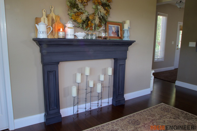 Faux Fireplace Mantel Surround Rogue Engineer