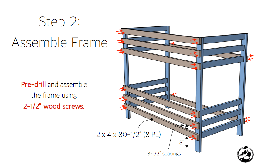 simple-diy-2x4-bunk-bed-plans-step-2
