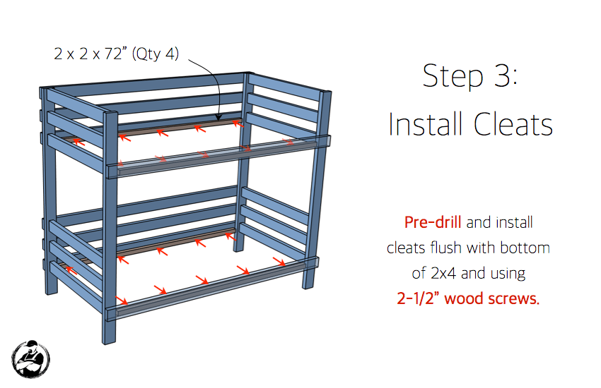 Free Bunk Bed Plans 2×4