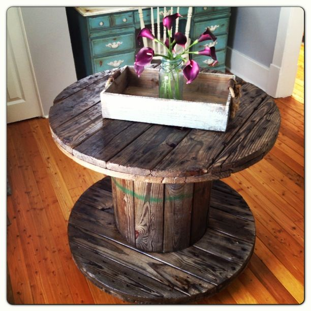 exciting cable spool kitchen table | Wire Spool Tables » Rogue Engineer