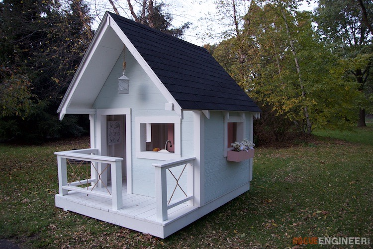 Playhouse » Rogue Engineer on barn style sheds with loft, yard sheds with loft, 16x20 cabin plan with loft, 14x16 cabin with a loft, one room cabin with loft, 12x12 cabin with sleeping loft,