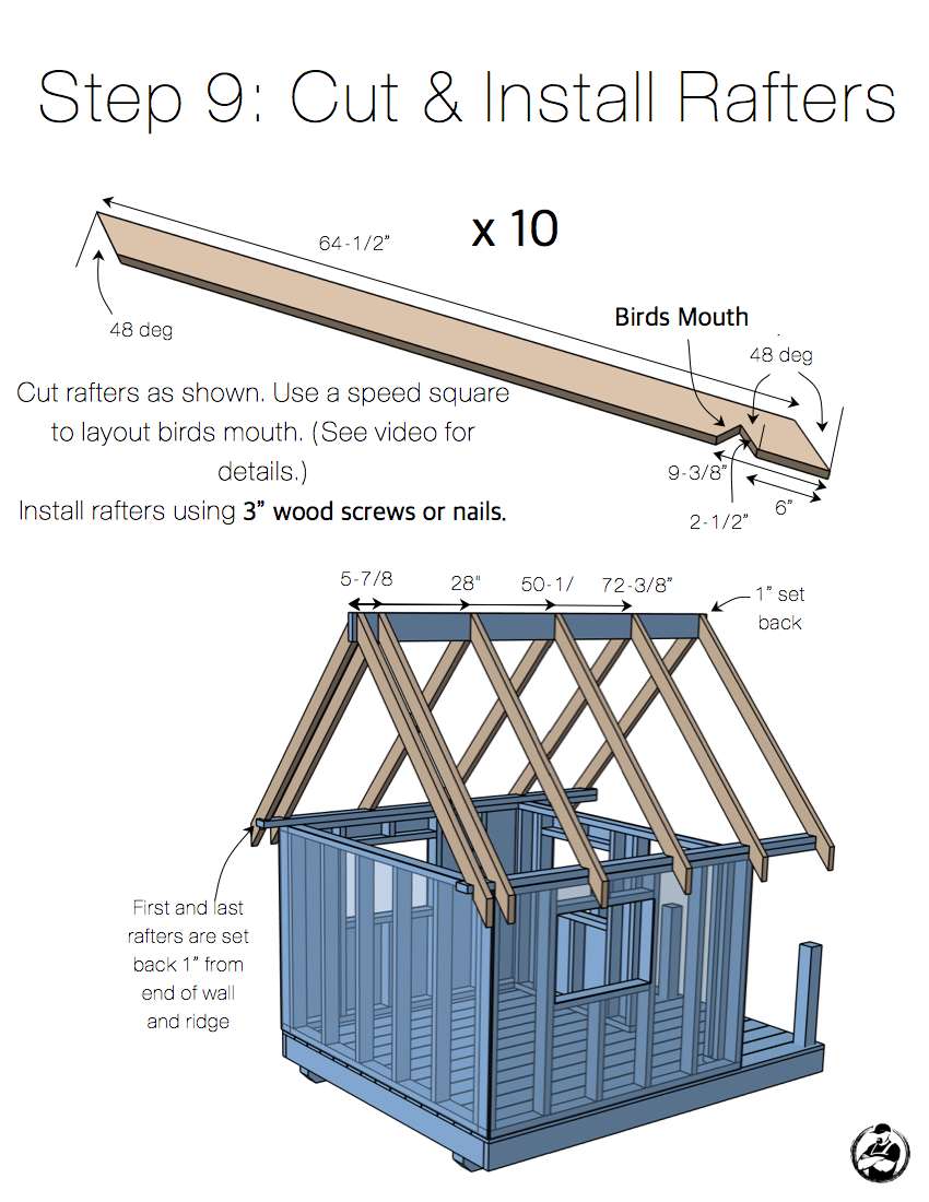 DIY Playhouse Plans - Step 9