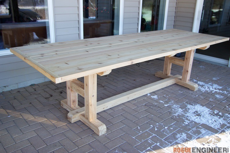 H Leg Dining Table 187 Rogue Engineer : DIY H Leg Table Plans Rogue Engineer 1 from rogueengineer.com size 750 x 500 jpeg 120kB