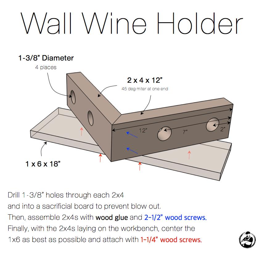 Wall Wine Holder » Rogue Engineer