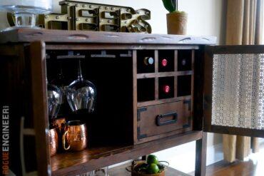 DIY Bar Cabinet Plans - Rogue Engineer 5