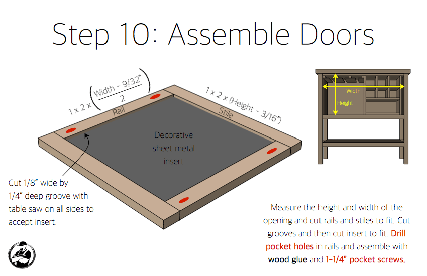 DIY Bar Cabinet Plans - Step 10