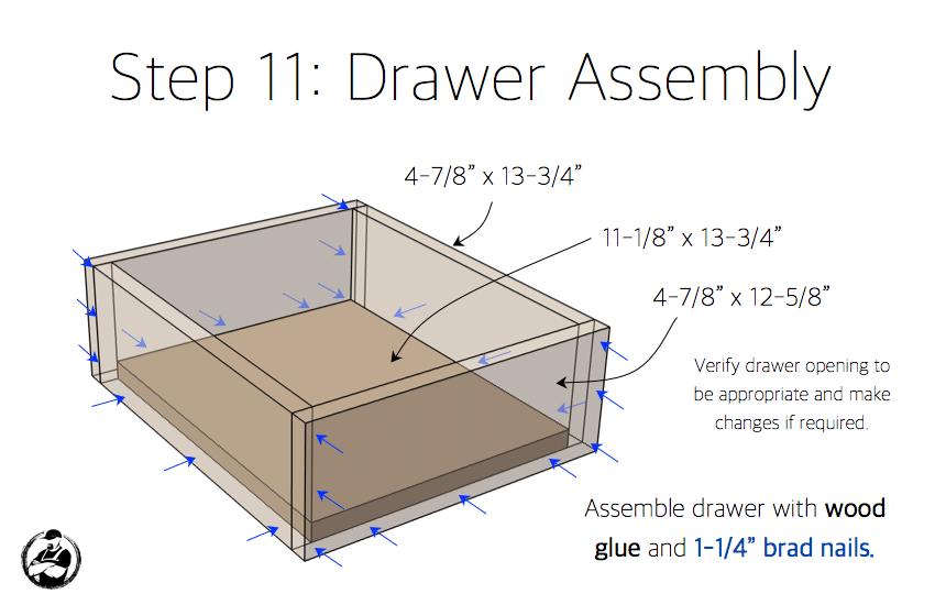 DIY Bar Cabinet Plans - Step 11