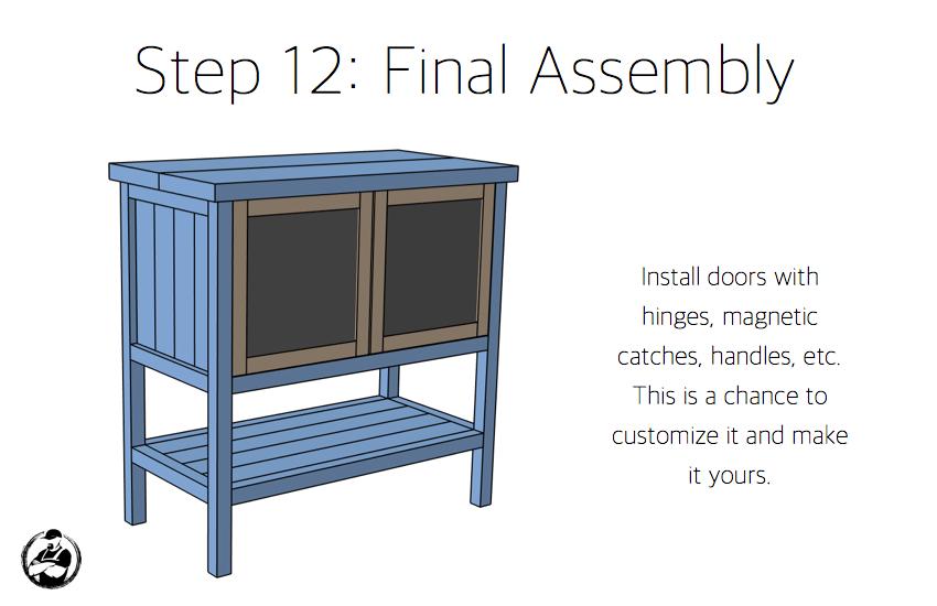 DIY Bar Cabinet Plans - Step 12