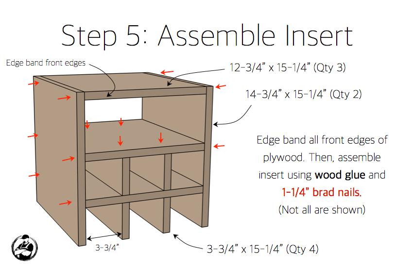 DIY Bar Cabinet Plans - Step 5