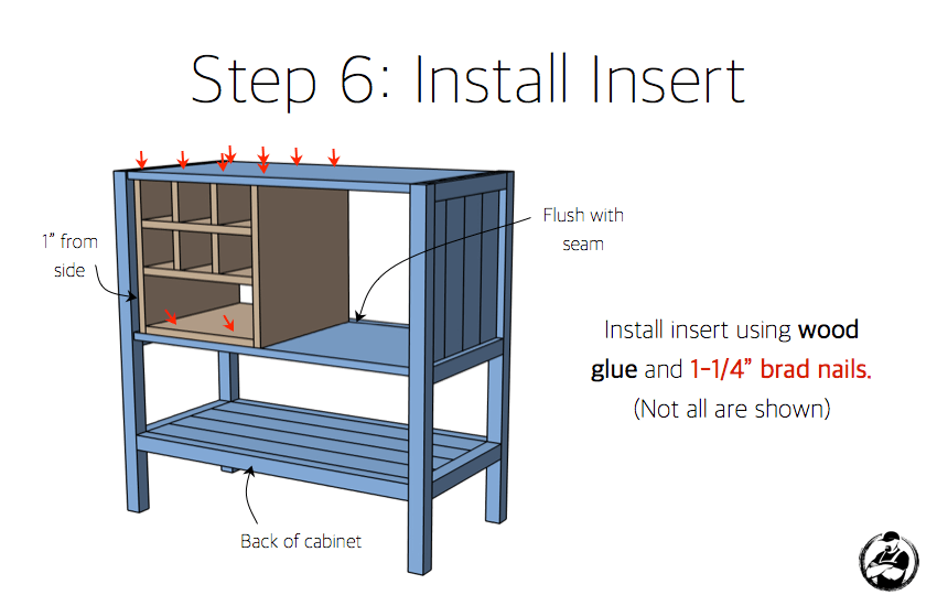 DIY Bar Cabinet Plans - Step 6