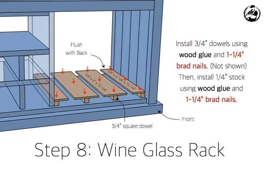 DIY Bar Cabinet Plans - Step 8