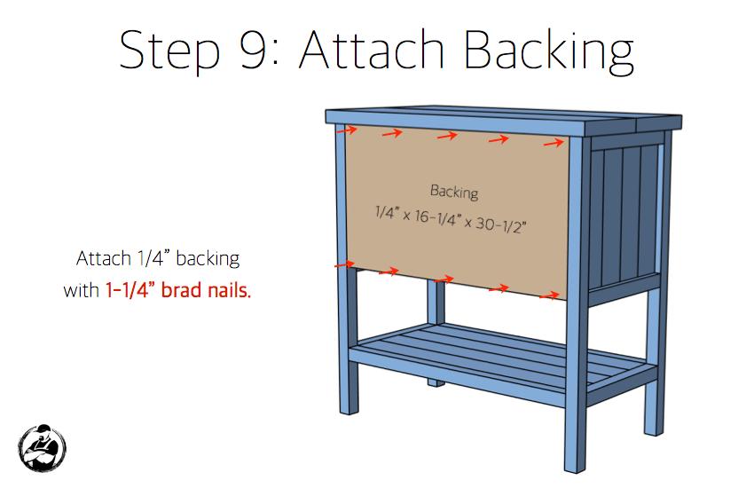 DIY Bar Cabinet Plans - Step 9