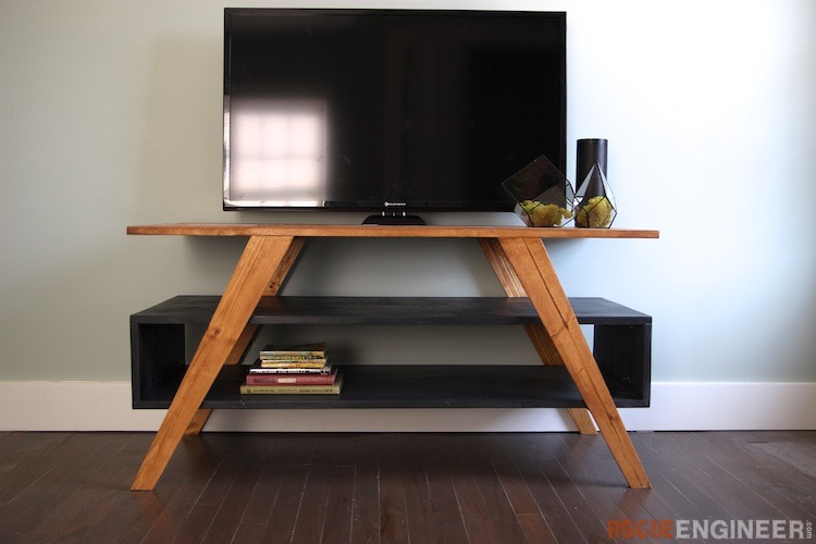 mid century modern media console rogue engineer. Black Bedroom Furniture Sets. Home Design Ideas