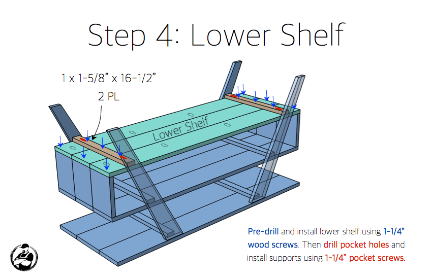 DIY Mid Century Modern Media Console Plans - Step 4